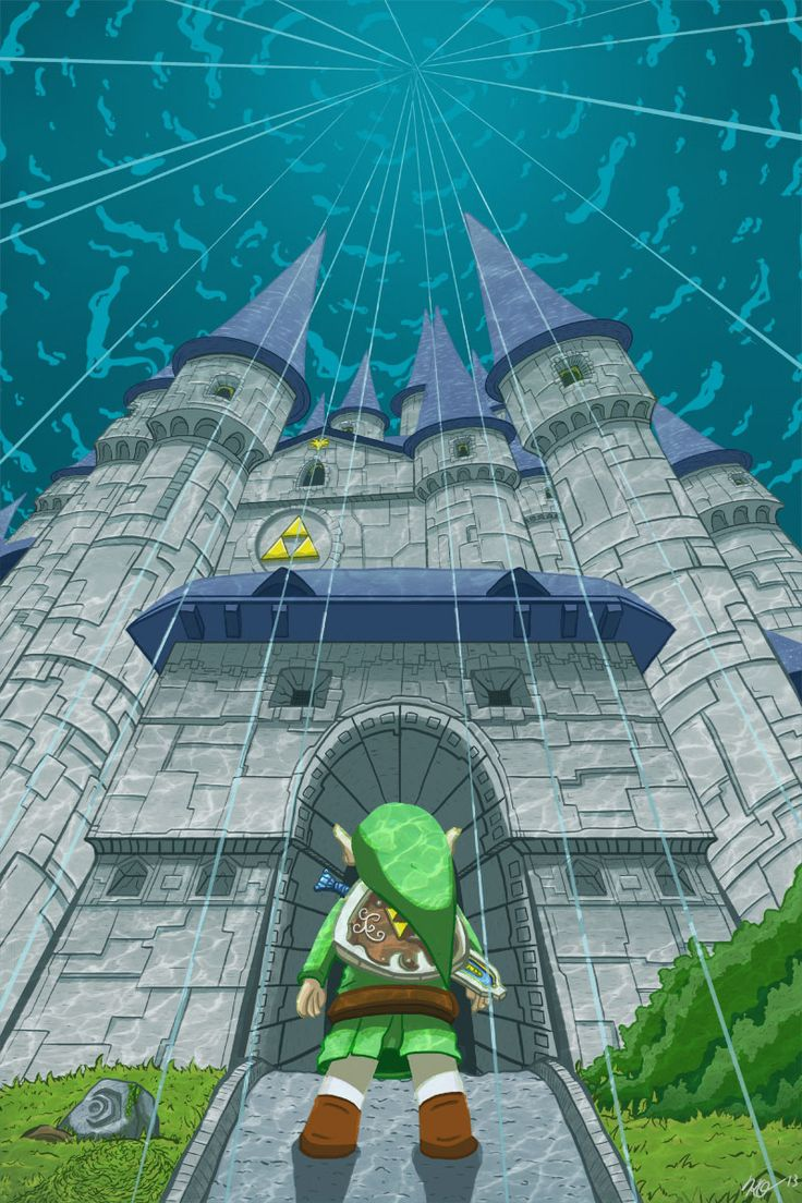 the legend of zelda | Tumblr. Legend of Zelda: Wind Waker. Link at Hyrule Castle deep in the ocean.