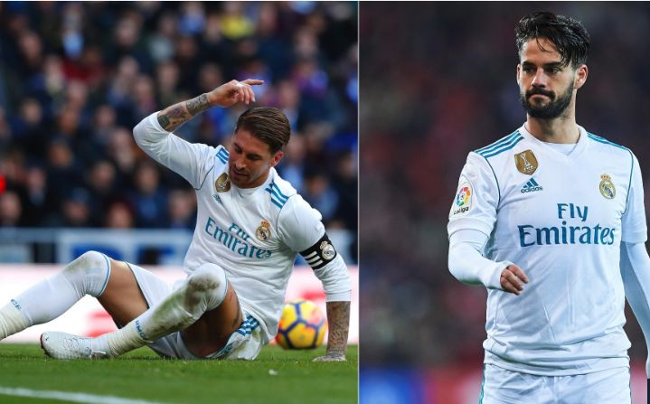 REAL MADRID MISERY CONTINUES AS RAMOS AND ISCO INJURIES ARE CONFIRMED. Real Madrid's miserable week has been made worse by the news that captain Sergio Ramos and Isco have picked up injuries.  www.18onlinegame.com