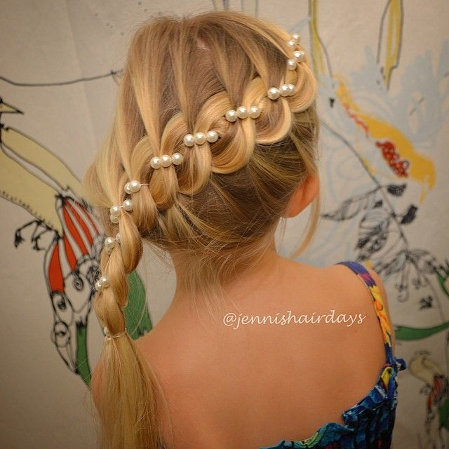 4-strand braid with pearls by Jenni's Hairdays helmiletti
