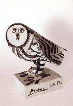 Picasso ceramic owl