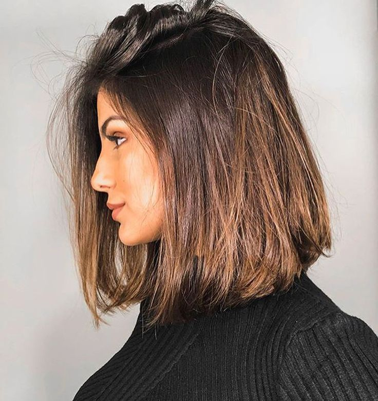Long Bob Haircut Beauty In 2019 Einfache Frisuren Mittellang