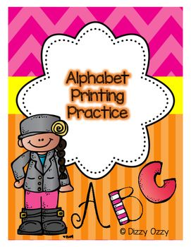 An alphabet printing practice resource that offers a variety of difficulty…