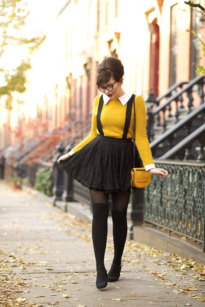 Winter Wear: Marigold, Tan, and Black. - Keiko Lynn