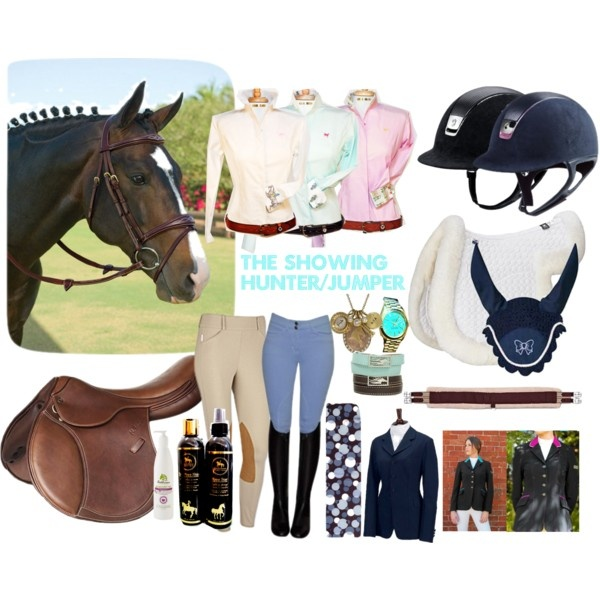 """""""The Showing Hunter/Jumper"""" by theequestrianteen on Polyvore except a Butet or CWD."""