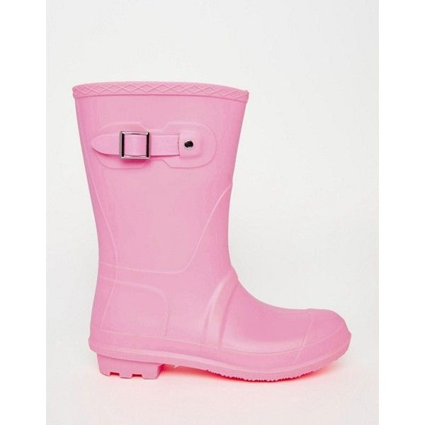 ASOS GET MOVING Wellies (3385 RSD) ❤ liked on Polyvore featuring shoes, boots, wellies shoes, round cap, flexible shoes, flat sole shoes and asos