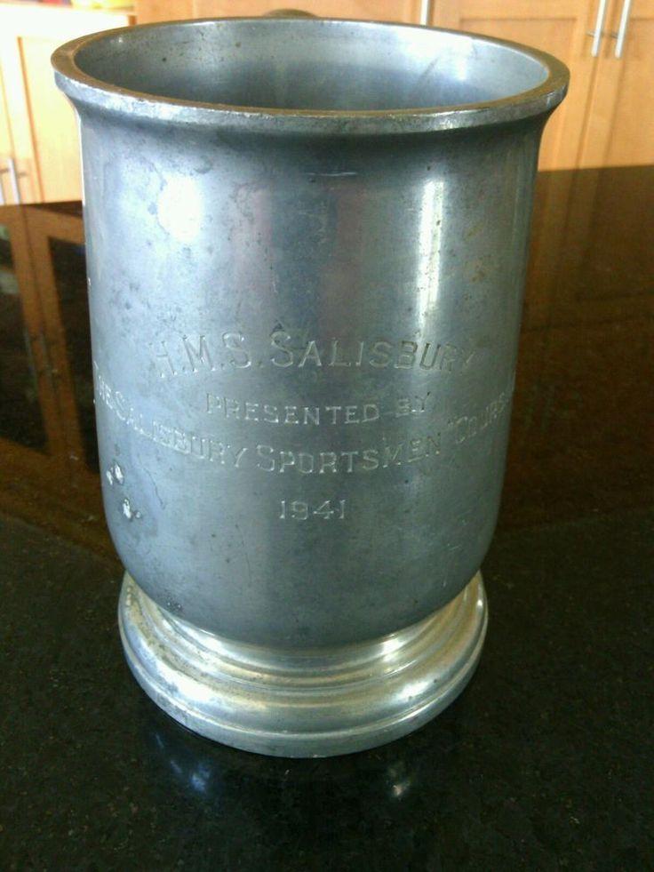 Pewter Beer Tankard HMS Salisbury 1941 Mug Ale Stein Period Sheffield England    eBay