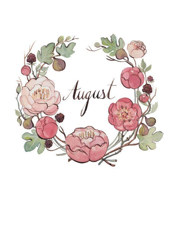 August 8.5x11 от KelseyGarrityRiley на Etsy, $20.00