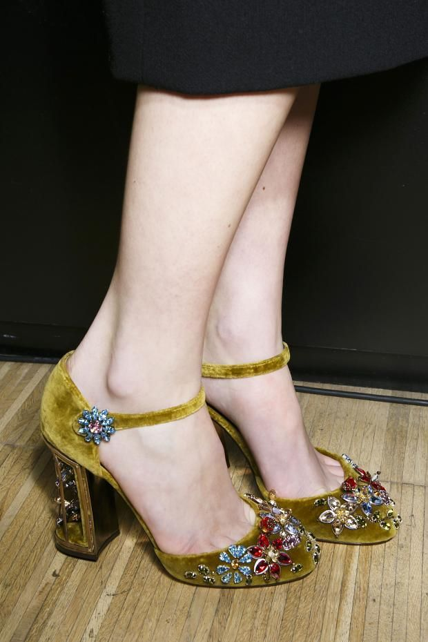 Dolce & Gabbana A/W '14- Jewelled shoes are looking popular for next season. Want! Want! Want! Except the heels