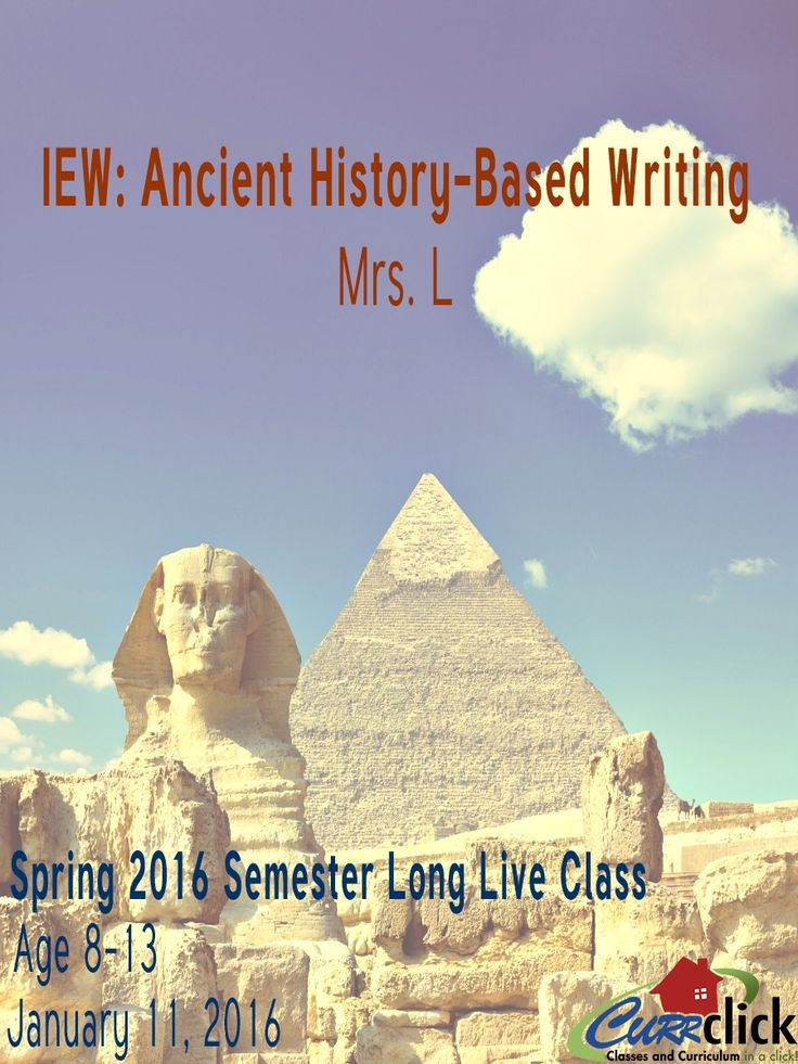 Ancient History-Based Writing Lessons from IEW