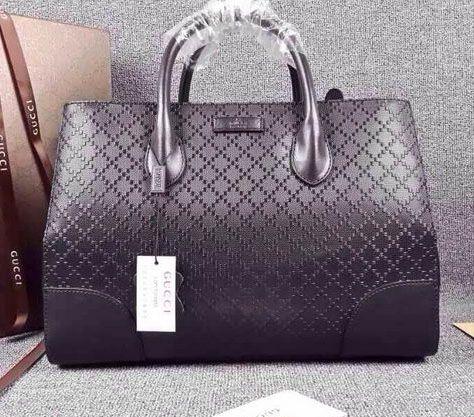 77b8cf4d495 Bright Diamante Leather Top Handle Bag 354225 Black