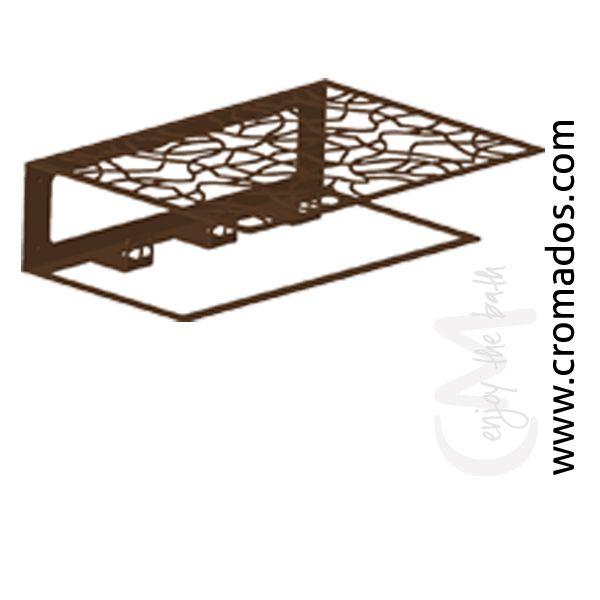 Portatoallas - Perchero ARD60 de la serie Art Decó de CM Baños. Medidas: 37x29x12. Acabado en marrón forja con opción a blanco texturizado y negro forja. Estilo art decó rústico.