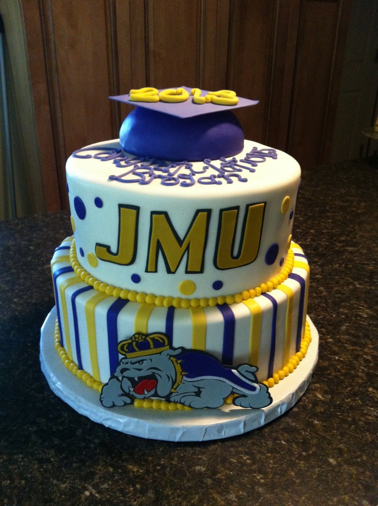 James Madison University graduation cake