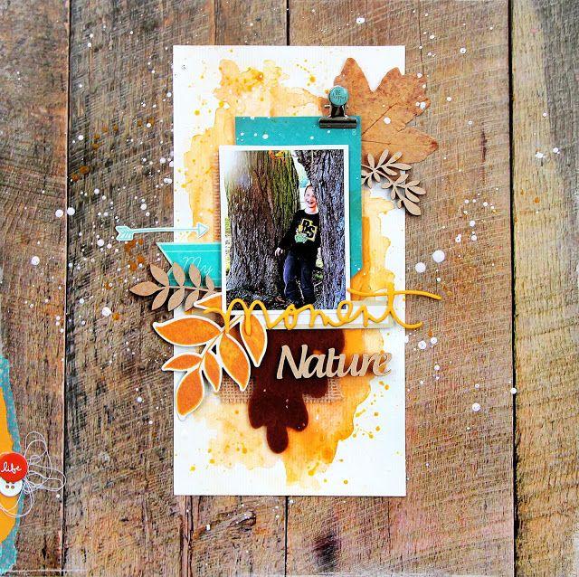 DT BoAnita et défi de novembre de l'Antre Scrap  : Moment nature.  Poser sur du vrai bois, ça pourrait sérieusement le faire... non ?