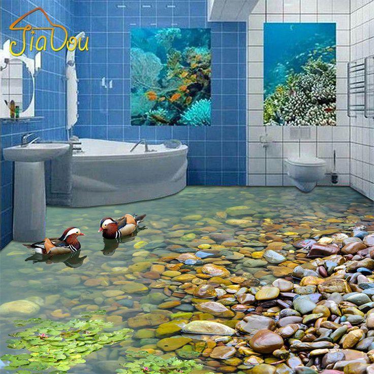 Online Shop Benutzerdefinierte 3d Boden Tapete Badezimmer Kuche 3d Pvc Boden Wand Selbstklebende Verdickt Tapet Floor Wallpaper Floor Murals Bathroom Wallpaper