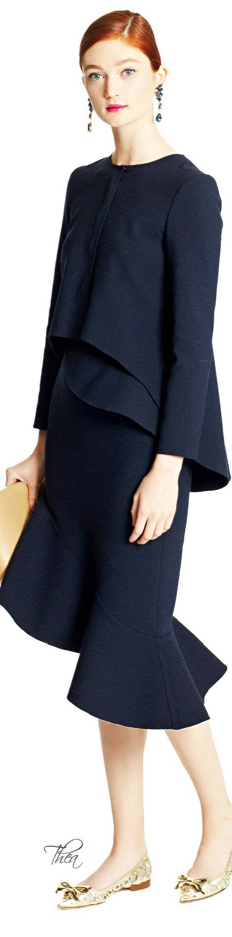 #Modest doesn't mean frumpy. www.ColleenHammond.com  Oscar de la Renta ● FW 2015