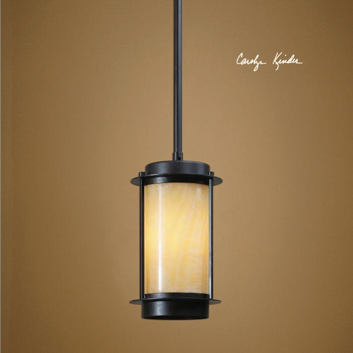 uttermost dolcezza 1 lt mini pendant clean lines allow the wonderful warm natural honey - Uttermost Lighting
