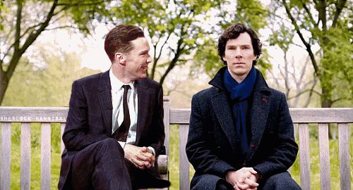 If Benedict Cumberbatch met Sherlock <---- Yeah, pretty much...<-------THIS IS THE BEST THING EVER!!!!!!!