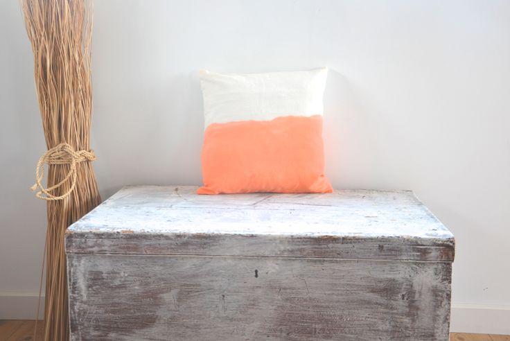 Dip dye boho cushions / lifestyle products / homewares interior decor / kids style / summer beach contemporary coastal / made in Bali / Ubud / Tevita Clothing and Lifestyle