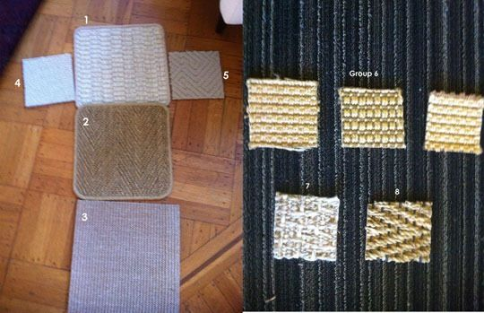 I love the look of natural fiber rugs, with their warm colors and nubby textures. I want to buy one for my dining room but am scarred from previous experiences with sisal rugs, which stained so easily. So, I decided to compare a bunch of rugs with various natural fibers, including jute, seagrass, sisal, wool and various synthetic blends (indoor/outdoor rugs made to look like natural fiber rugs).