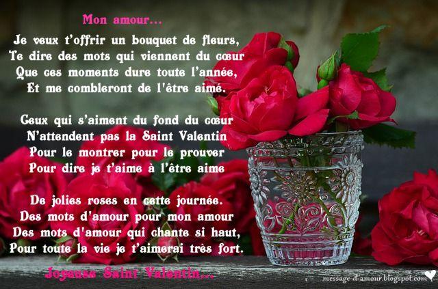 Poeme St Valentin Poeme Valentin Saint Valentine