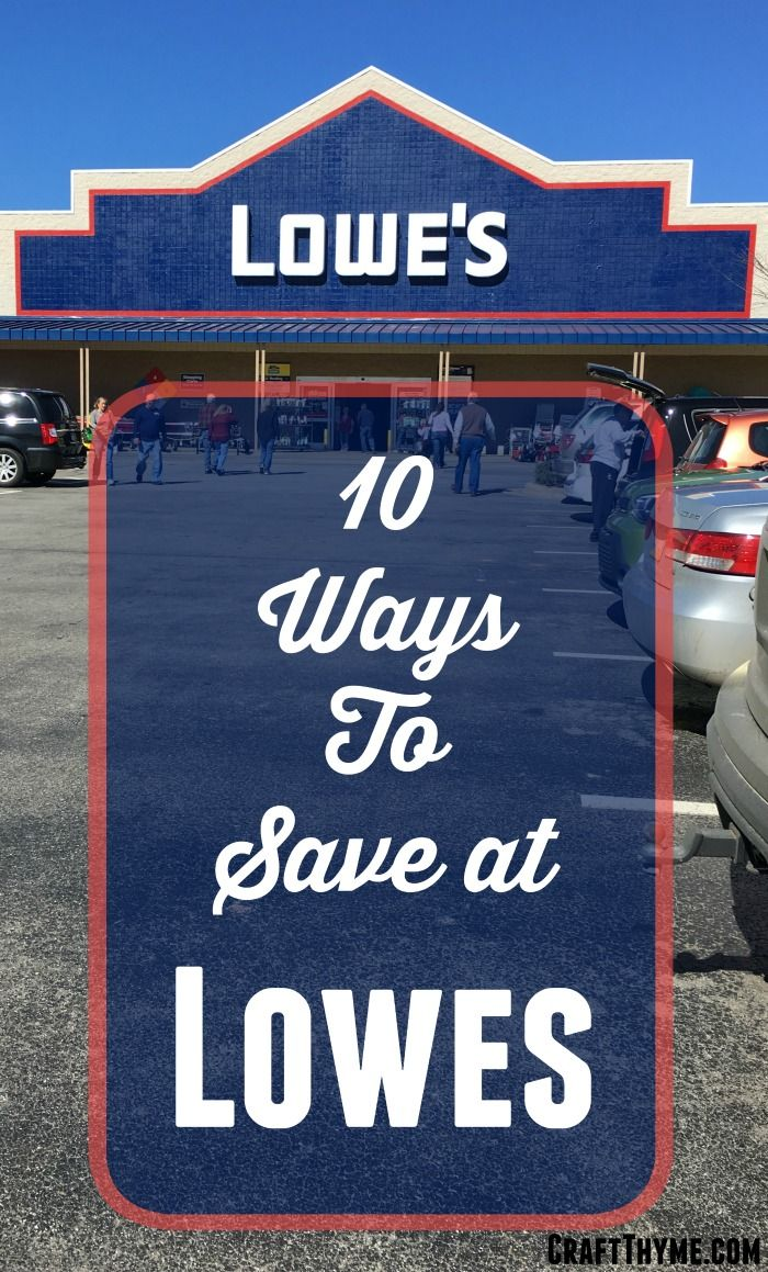 I love legitimate ways to save money on DIY! Here are 10 REAL ways to save money at Lowe's Home Improvement Stores.