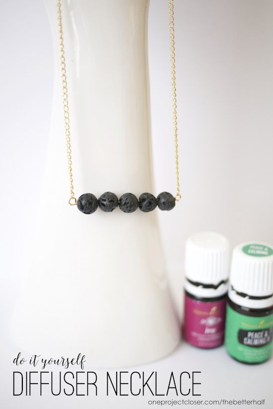 ooo this looks super easy! i'm totally making these for Christmas presents. DIY Essential Oil Diffuser Necklace