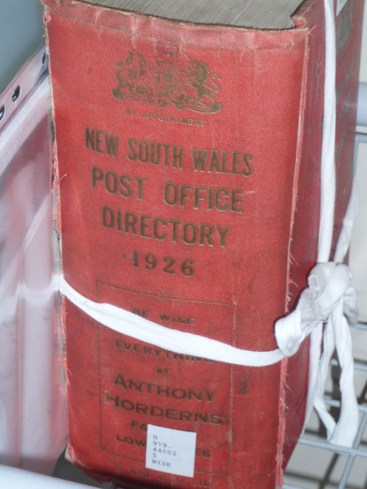 NSW Post Office Directory 1926