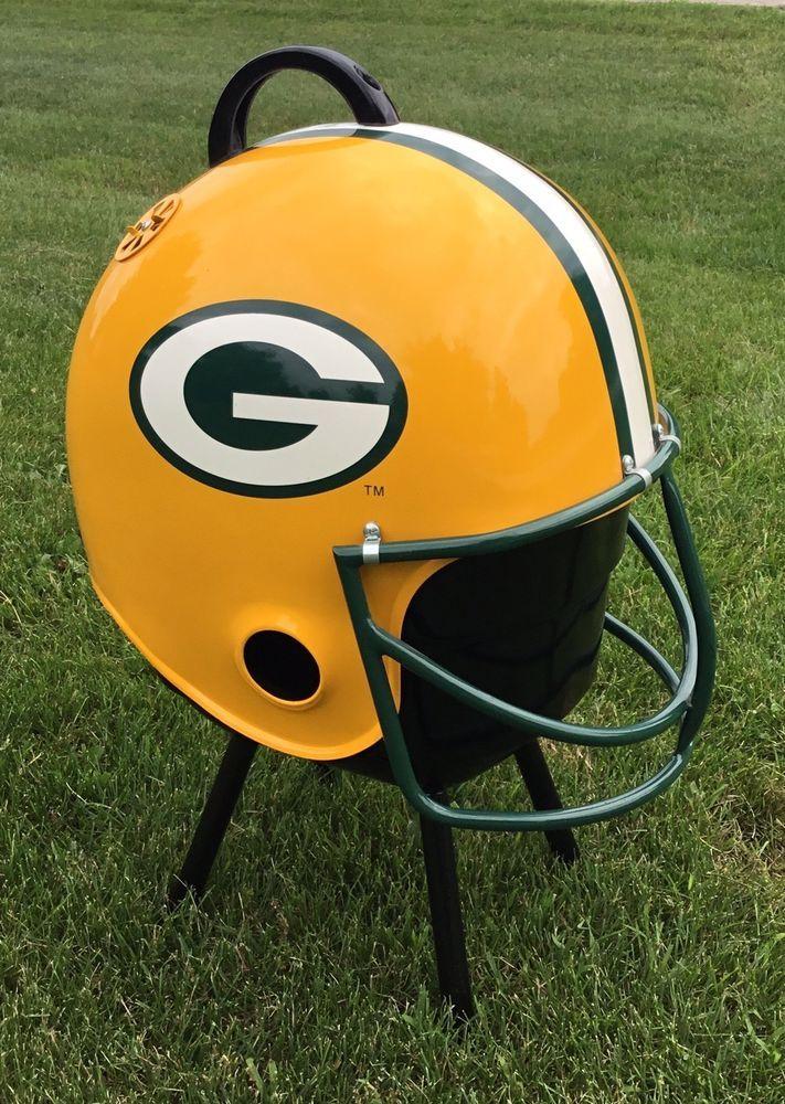 Vintage Green Bay Packers Helmet Bbq Grill Sports Mem
