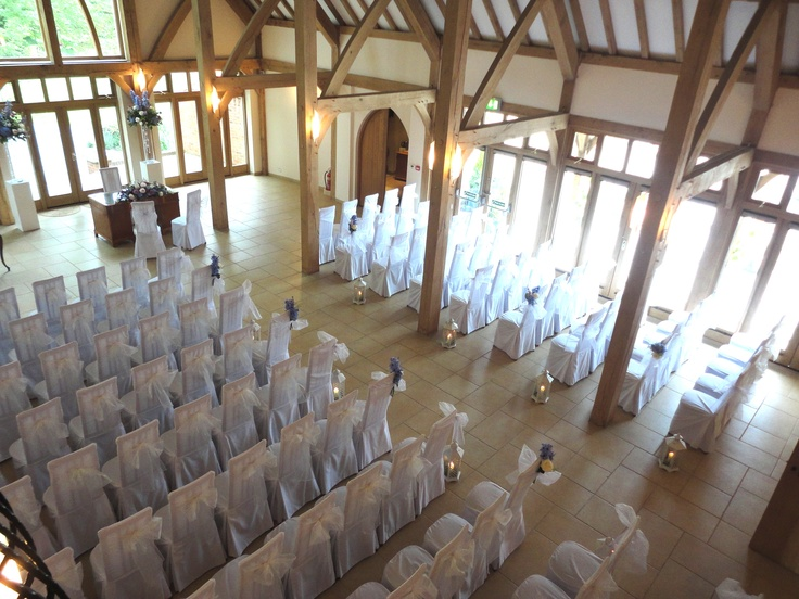 Vanilla Chair Organsa Bows For Civil Ceremony At Rivervale Barn By Fuschiadesigns