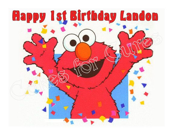 Elmo edible cake image frosting sheet cake topper by CakesForCures