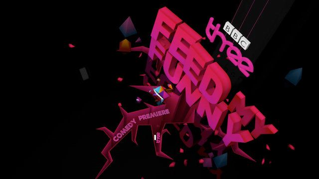 'feed my funny' [] BBC 3 comedy TV ident [2013]
