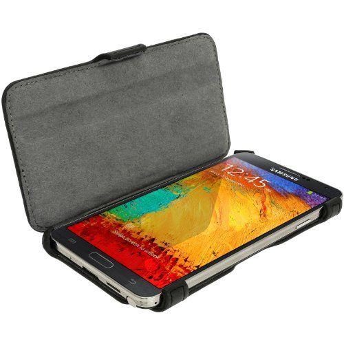 igadgitz Negro Eco-Piel Case Funda Cover Carcasa para Samsung Galaxy Note 3 III N9000 N9002 N9005 Android Smartphone Tablet + Protector de pantalla (no apto para Samsung Galaxy Note 2) - http://www.tiendasmoviles.net/2016/01/igadgitz-negro-eco-piel-case-funda-cover-carcasa-para-samsung-galaxy-note-3-iii-n9000-n9002-n9005-android-smartphone-tablet-protector-de-pantalla-no-apto-para-samsung-galaxy-note-2/