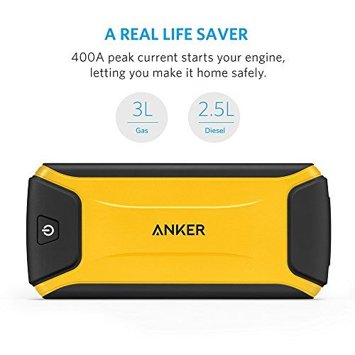 [Ultra Compact] Anker Compact Car Jump Starter and Portable Charger Power Bank with 400A Peak Current, Advanced Safety Protection and Built-In LED Flashlight  http://www.discountbazaaronline.com/2015/12/12/ultra-compact-anker-compact-car-jump-starter-and-portable-charger-power-bank-with-400a-peak-current-advanced-safety-protection-and-built-in-led-flashlight/