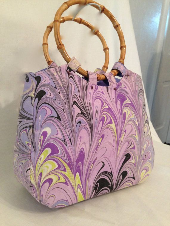 Hand Marbled Pima Cotton Purse by vansantdesigns on Etsy, $45.00