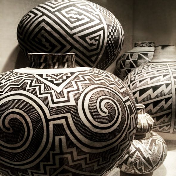 Black-on White Pottery