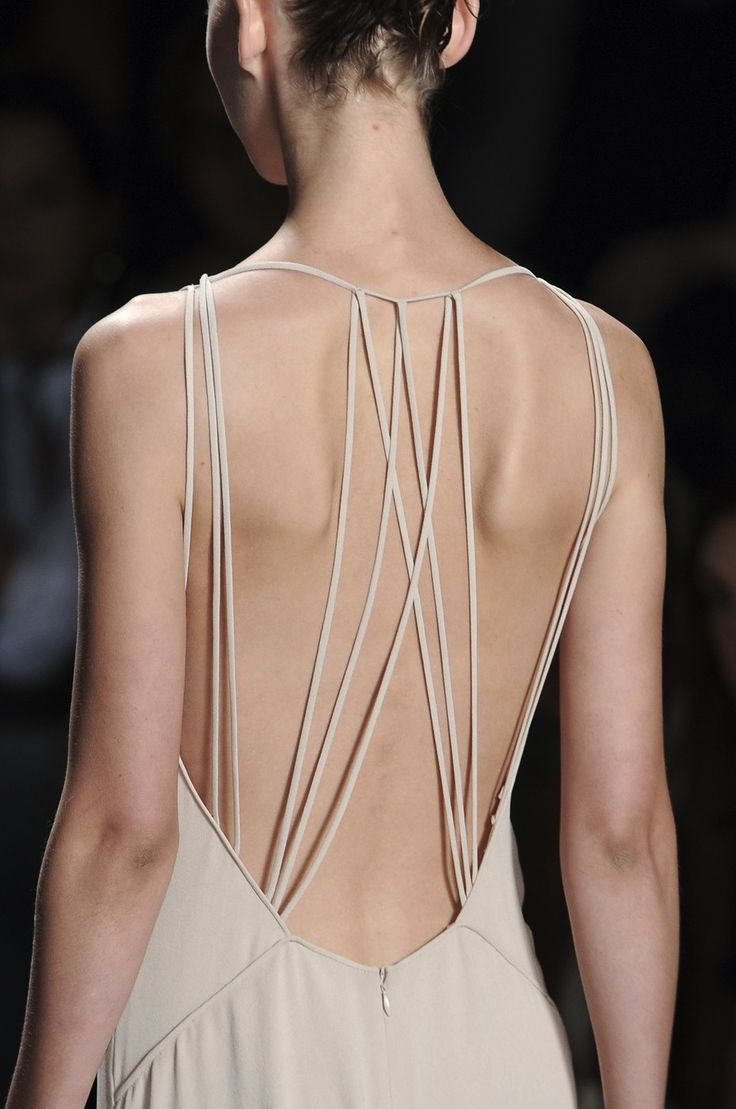 Designer unknown... love that the simple single straps make this garment a delight to look at
