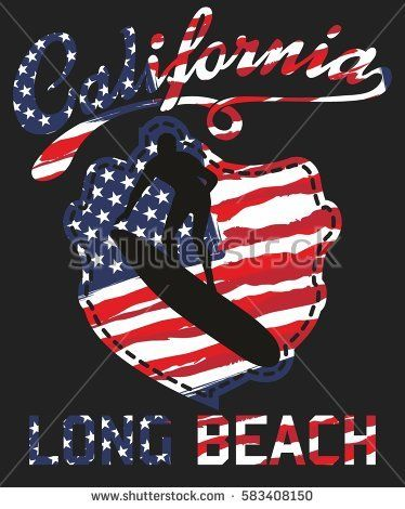 American Flag and california beach surfer graphic design vector art  #vector #vectorart #college #usa #flag #america #states #patriotism #nation #american #united #symbol #patriotic #background #textured #poster #stars #vintage #texture #freedom #country #dirty #4th #illustration #american #flag #banner #washington #fashioned #wallpaper #star #icon