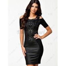 Tekonahka mekko, musta