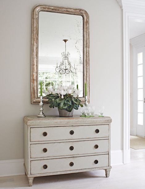 chest & mirror | traditional home