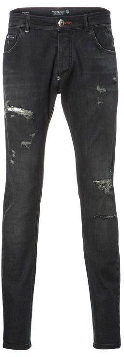 Philipp Plein Era Super Straight Cut Jeans