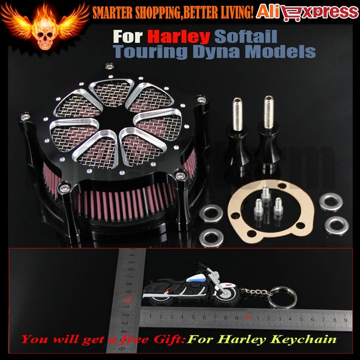 128.88$  Buy here - http://aiguq.worlditems.win/all/product.php?id=32796185088 - Motorcycle Air Cleaner Intake Filter System air Filter for Harley touring roadking street glide Softail springer Dyna 1993-2015