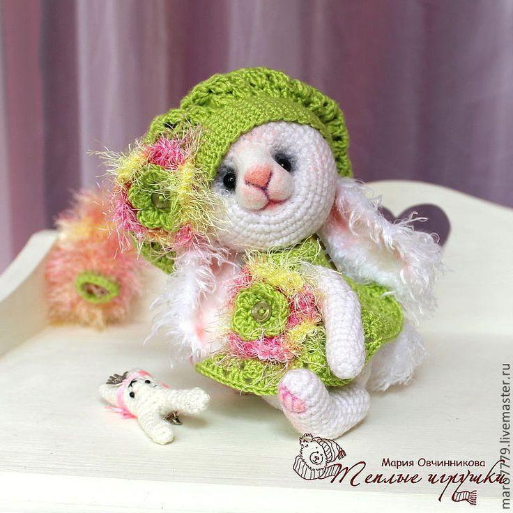 """Купить Зайка """"Весна пришла!"""", зайчонок, белый кролик, игрушка, сувенир - малышка зайчик девочка"""