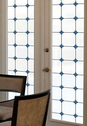 Monterey Bay Privacy Stained Glass Privacy Window Film, Non-adhesive, static cling film. >> WindowFilmWorld.com