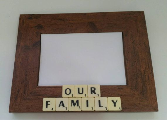 Scrabble frame personalized frame family by ArtfulCrafterbyGemma