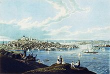 View of Boston from Dorchester Heights, 1841