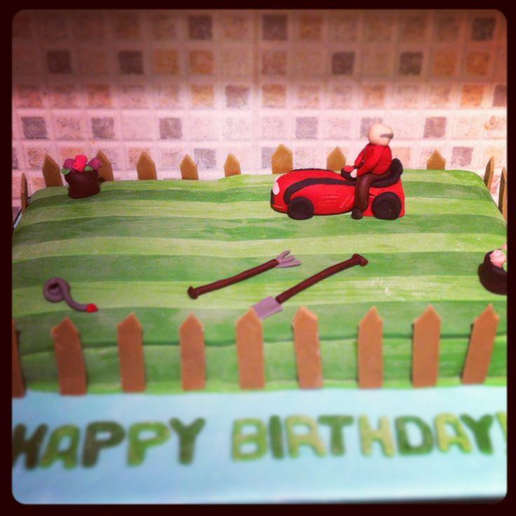 Lawnmower birthday cake!