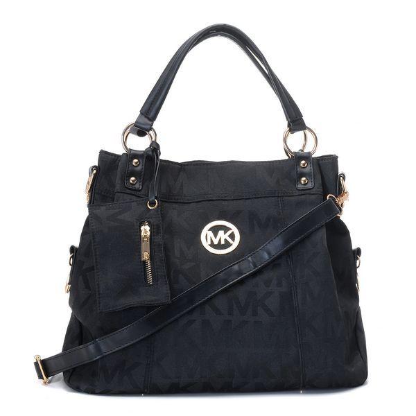 Michael Kors Top Satchel Black Canvas Bag