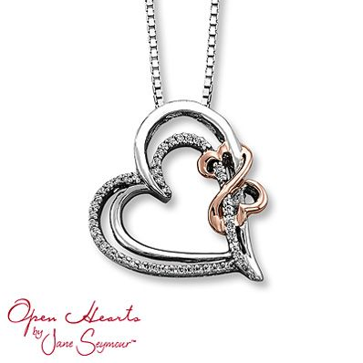 Open Hearts by Jane Seymour® Diamond Heart Necklace I want the entire collection! I love Jane Seymour and I love the Open Hearts Collection!