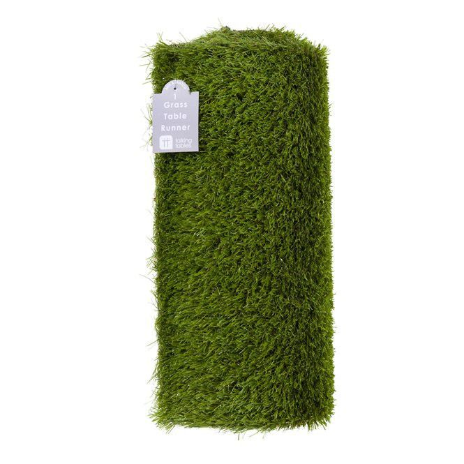 Bring the outdoors inside with this beautiful green grass table runner! This runner is perfect for any BBQ, Easter, or summer party! The best part is, you can reuse it! 1 Runner, Approx: 5 FT long x 1