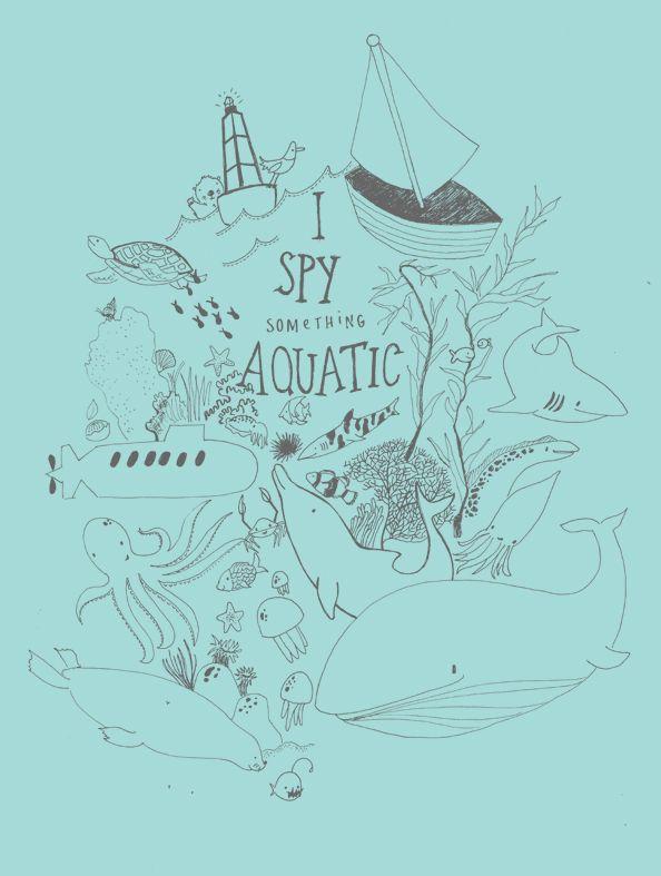 I spy something aquatic | Monkey and the Whale. #illustration